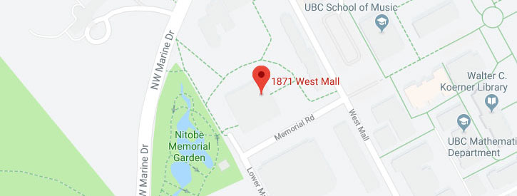 UBC Asian Centre Map